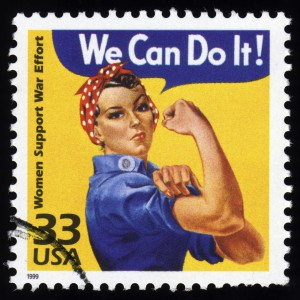 USA Postage Stamp Women Support War Effort