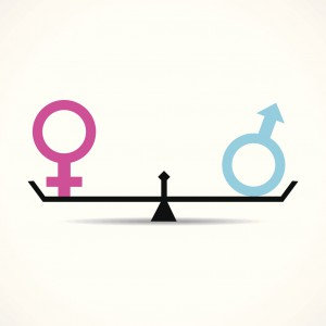 Male and female equality concept